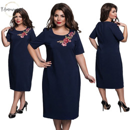 Ladies straight dresses sLeeves online shopping - Ladies Elegant Women Dress Fashion Sexy Party Maxi Straight Sizes Casual Loose Large Dresses Slim Office Vestidos Designer Clothes