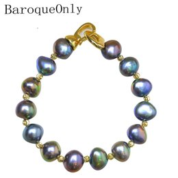 $enCountryForm.capitalKeyWord Australia - BaroqueOnly High Quality Natural Freshwater Pearl Bracelets HEART CLASP mixed-colour irregular Pearl Jewelry customizable