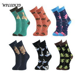 Discount sox socks - [WPLOIKJD]Japanese Jacquard Animal Bicycle Ice Cream Glass Print Colorful Men Socks Fashion Personality Crew Hip Hop Tid
