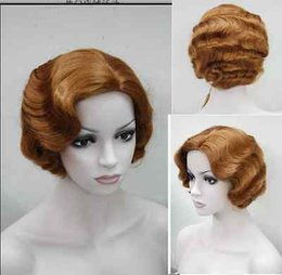 $enCountryForm.capitalKeyWord Australia - free shipping~~~Cos red brown short curly Cosplay Full Heat-resistant Wig Lady Girls Cosplay Peluca Products WIGS