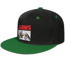 Wholesale Pizza Shark Jaws Poster Green mens and women hip hop flat brim cap design fitted custom sports fashion baseball team best classic flat brim