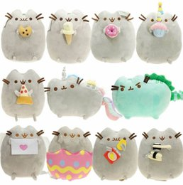 Wholesale The Cat Angel Cake Cookie Ice Cream Egg Pizza Doughnut Rainbow Sushi Dinosaur Dino Moon Cat Plush Doll Stuffed Best Gift Soft Toy