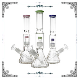 DiamonD glass pipes online shopping - 12 inches Diamond base glass bong pink showerhead percolator glass bong water pipe glass smoking pipes Hookah ice catcher bongs with bowl
