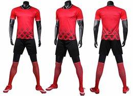 Terno de treino solto masculino, um novo 2019 terno de esporte de verão, é uma camisa de secagem rápida com mangas curtas venda por atacado