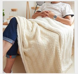 $enCountryForm.capitalKeyWord NZ - Velveted twist knitted wool blanket Spring and Autumn Slackers Cover Blankets Air conditioning blanket direct deal Multicolor optional