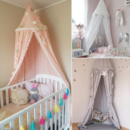 $enCountryForm.capitalKeyWord Australia - Kids Bed Canopy Bed Curtains Girl Princess Round Dome Canopy Baby Crib Cot Hanging Tent Children Play Tent House Room Decoration