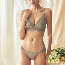 854db1486 Bra Panty Sexy Style Australia - French romantic retro style lace underwear  sets wire free women