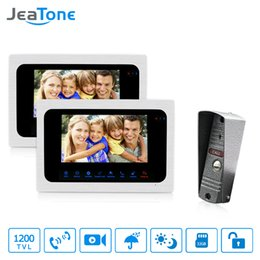 "$enCountryForm.capitalKeyWord Australia - JeaTone 7"" LCD Monitor Wired Video Door Phone Intercom Doorbell 1 Camera 2 Monitors Video Door Phone Bell Kit for Home Security System"