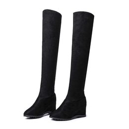 China free transport style winter boots women 2019 fashion soft velvet women boots Long tube size 35-40 cheap fashion style long boots suppliers