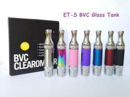 Aspire Et S Bvc Atomizers Australia - Aspire ET-S Glass BVC Clearomizer ETS BVC Glass Atomizer 3ML replacement bvc coil tank 7 color