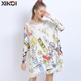 long warm dress jumpers Canada - XIKOI Winter Oversized Sweaters For Women Warm Long Pullover Dresses Fashion Creativity Print Jumper Knitted Sweaters Pull Femme