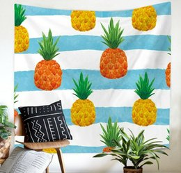 $enCountryForm.capitalKeyWord UK - 3D Cartoon Pineapple Wall Art Hanging Tapestry Home Curtain Partition Decor