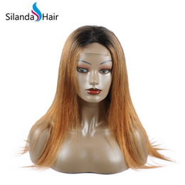 Sale Remy Full Lace Wigs Australia - Silanda Hair Hot Sale Ombre #1B 30 Straight Remy Brazilian Human Hair Lace Front Full Lace Wigs Free Shipping