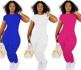White Letter Print Leggings Australia - Hot sales Women designer 2 piece set short cap sleeve crew neck t-shirt bodycon leggings pants print letter summer clothing plus size 373