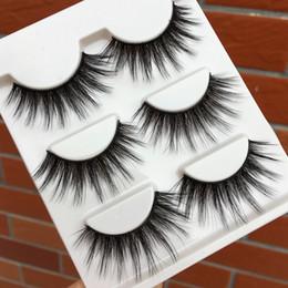 Wholesale Makeup False Eyelashes Australia - New Silk 3d False Eyelashes Natural Long 2019 Curling Fake Eyelashes Thick Performance Makeup Eye Lashes