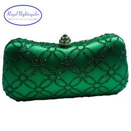 $enCountryForm.capitalKeyWord Australia - Flower Emerald Dark Green Rhinestone Crystal Clutch Evening Bags For Womens Party Wedding Bridal Crystal Handbag And Box Clutch J190630