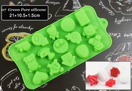 heart shaped molds 2019 - Silicone Chocolate Molds for baking letters flower 3d heart shape Bakeware Candy Gummy Tray Cake Moulds cheap heart shap