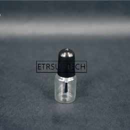 $enCountryForm.capitalKeyWord Australia - 1000pcs lot Capacity 3ml Glass Tube Empty Nail Polish Bottle with Black Lid D15*H41mm Packing Storage Bottle