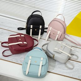 cute mini backpacks wholesale Canada - Women's Mini Backpack Luxury PU Leather Kawaii Backpack Cute Graceful Bagpack Small School Bags For Girls