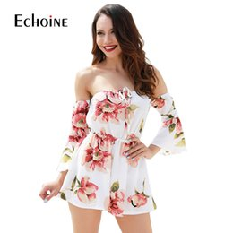 $enCountryForm.capitalKeyWord Australia - Sexy Fashion Floral Print Women Jumpsuit 2019 Summer Beach Off Shoulder Body Suit Casual Loose Playsuit Plus Size 4xl Jumpsuits Y19071801