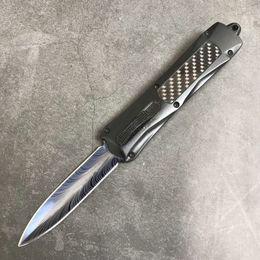 $enCountryForm.capitalKeyWord Australia - Hot Sale! A163 Auto Tactical knife 440C Double Edge Blue Titanium Coated Blade Handle With Nylon Bag