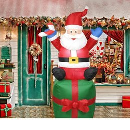 outdoor santa claus decorations NZ - 1.8m Santa Claus Snowman Inflatable Toy Outdoors Christmas Decorations for Home Garden Yard Arch Ornament Festival Party Props