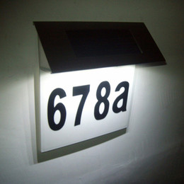 house numbers led lights Australia - Solar House Number Lights Address Numbers Plaque Lamp Door Number Lights Wall Mount for Door Fence Mailbox