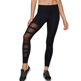 $enCountryForm.capitalKeyWord Australia - Sexy Mesh Patchwork Sports Leggings Women High Waist Yoga Pants Fitness Clothing Black Gym Sportswear Running Pants #F40ST20