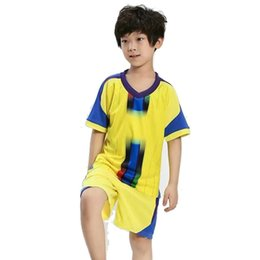 Blue Zebra Clothes UK - Boys Football Clothes Sets Summer Kids Casual T-shirt+Shorts 2pcs Tracksuits For Boys Children Sports Suits Boys Outfits Cothing Sets