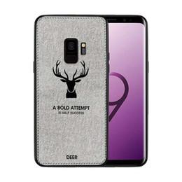 E Cloths Australia - Fabric Cloth Deer Phone back Cases Case For Samsung S10 plus e A10 A30 A40 A50 A60 A70 M10 M20 M30 Vintage Cute