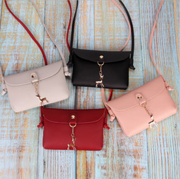 Pu bags manufacturers online shopping - Ladies shoulder diagonal bags female solid color handbags animal pendant mini bags manufacturers supply direct