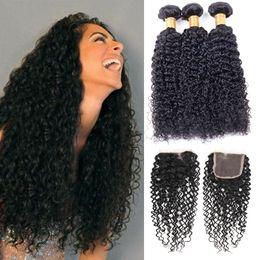 $enCountryForm.capitalKeyWord NZ - 8A Pamina Hair Products Malaysian Kinky Curly Virgin Hair With Closure Human Hair 8-30 Malaysian kinky curly Natural Color Free Shipping
