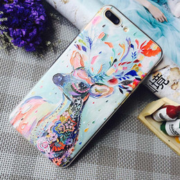 Colorful Girl Painting Australia - 20 Style Personity Cell Phone Case for iphone 8 plus iPhone XS MAX XR 6s 7 8 Plus 5s Mobile Phone for Women Girls Cheap Colorful Painted