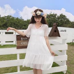 $enCountryForm.capitalKeyWord Australia - Summer Female 2019 New Japanese Sweet And Lovely Teens Girls Ruffles Fresh Dress Student Casual Princess Dress