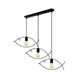 bar tables black NZ - Creative personality restaurant bar table lamp children's room small fish bedroom lamp kindergarten classroom lamp Iron Chandelier wholesale