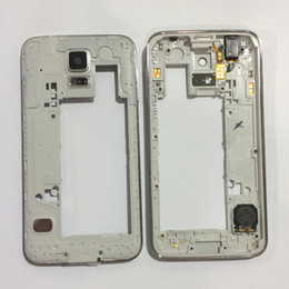 $enCountryForm.capitalKeyWord Australia - New Middle Frame Bezel Chassis Housing for Samsung Galaxy S5 G900 G900A G900F with Back Camera Glass Lens