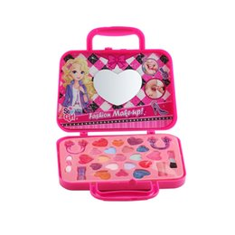 girls toys makeup UK - Girl's Pretend Play Toy Princess Makeup Set For Kids Children Pretend Play Kid Make Up Toys Dressing Box Sets Princess Toy Girl