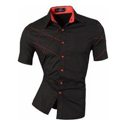 $enCountryForm.capitalKeyWord Australia - Men 2019 Summer Fashion Lines Of Geometric Ornaments Casual Slim Fit Short Men's Mixed Shirt Z003 Y19071301