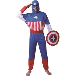 costume superman Australia - Superman Costumes American Hero Halloween Costume Captain America Role Play Costumes For Adult Mens Party Cosplay Fancy Dress