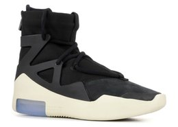 Women shoes summer boots online shopping - 2018 Air New Arrival Fear of God Mens Basketball Shoes FOG Boots Light Bone Black Sail Women Sports Zoom Sneakers