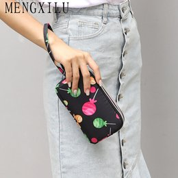 hand bag heart Australia - MENGXILU Candy Prints Nylon Women Clutch Bag Heart Butterfly Flower Pattern Ladies Hand Bags Portable Casual Tote Wallet Purse