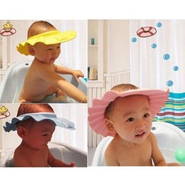444a2114999 3 colors baby shampoo cap adjustable shower cap protect soft hat