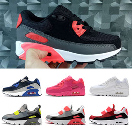 infant cushions NZ - Best Cushions Kids shoes Children Infant Toddler shoes triple black white blue pink volt Boys Girls Youth Kids trainers designer sneakers