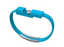 micro usb bracelet phone 2019 - Good gift Colorful Mini Micro USB Bracelet Charger Data Charging Cable Sync Cord For Android Phone iphone Ypf13 cheap mi