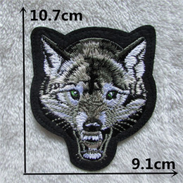 Cheap Clothing Wholesalers Australia - Cheap High quality 50PCS Wolf patches stripes Clothing accessories Embroidery Applique Decoration Accessories Hotfix C123