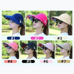 59eb6aa09e005 Sun Hats for Women Visors Hat Fishing Fisher Beach Hat UV Protection Cap  Black Casual Womens Summer Caps Ponytail Wide Brim Hat
