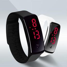 Men Digital Wrist Watches Australia - New Fashion Sport LED Watches Candy Jelly men women Silicone Rubber Touch Screen Digital Watches Bracelet Wrist watch
