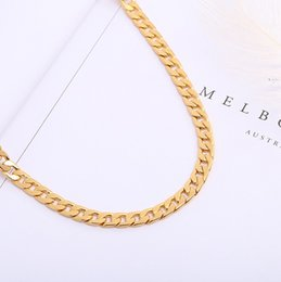 $enCountryForm.capitalKeyWord Australia - 30 pcs, Men's Various models Twisted twist Necklace 6 mm wide 18K gold-plated Necklace Alloy Material Don't fade Hip hop Necklace,16~32 inch