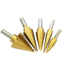 $enCountryForm.capitalKeyWord Australia - 5pcs   Set Titanium Straight Groove HSS Metal Step Drill Bit Hole Cutter Wood Cone Core Drilling Saw Power Drills Tool
