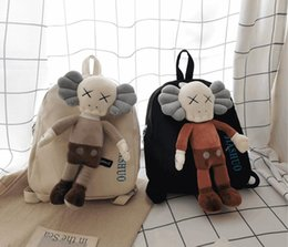 doll wallet zipper NZ - Korea ins ugly cute retro anime bag college wind Japanese Harajuku port wind funny doll couple backpack wallet